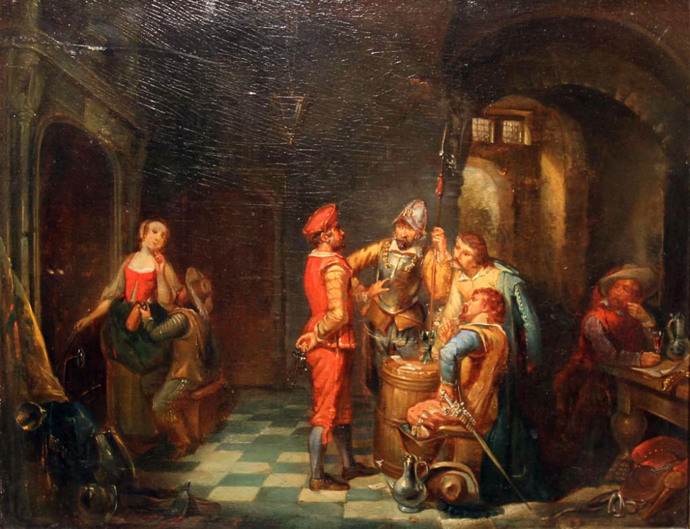 Johannes Adrianus Schultz  – Dutch Inn, soldiers drinking