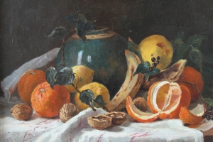Franz T. (Freiherr) von Rupprecht - Still life with oranges and various fruits