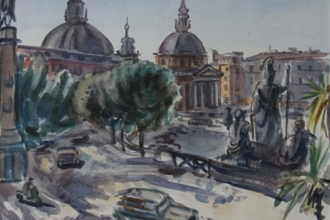 Jan Sluijters Jr – Piazza del Popolo, Rome