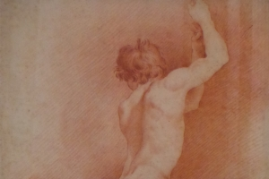 Artist unknown - Study of a naked man